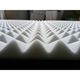 Piramideschuim wit 120x60 cm B1 Melamine