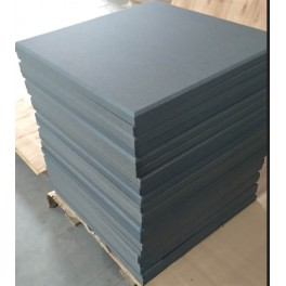 Akoepaneel 60x60 cm rood bordeaux