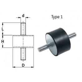 Trillingsdemper 10x10x6 mm type 1